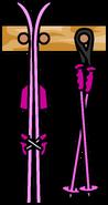 Ski Rack Pink