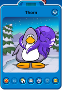 Thorn Player Card - Early October 2018 - Club Penguin Rewritten