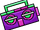Purple Boom Box (ID 15142)