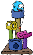Blue Puffle Scratch Tower