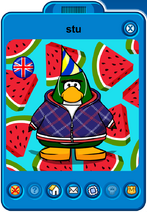 Stu Player Card - Mid January 2020 - Club Penguin Rewritten