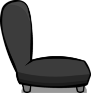 Black Plush Chair sprite 007