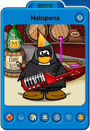 Halopona Player Card - Early September 2019 - Club Penguin Rewritten