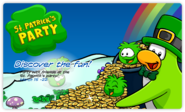 St. Patrick Day login screen