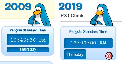 PST clock comparison - Club Penguin Rewritten