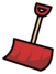 Red shovel pin