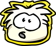 Winter Party White Puffle Sign