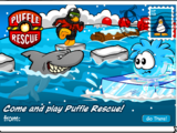 Puffle Rescue Postcard