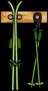 Ski Rack Green