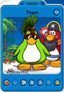 Thorn Player Card - Early July 2019 - Club Penguin Rewritten
