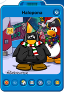 Halopona Player Card - Early January 2020 - Club Penguin Rewritten