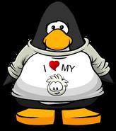 I Heart My White Puffle T-Shirt PC