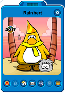 Rainbert Player Card - Mid August 2019 - Club Penguin Rewritten