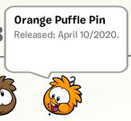 Orange Puffle Pin SB