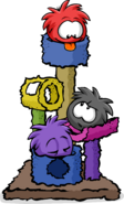 Puffle Party Postcard Scratch Tower
