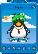 Skyver Player Card - Early August 2019 - Club Penguin Rewritten