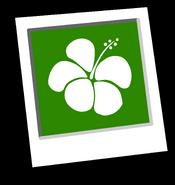 Green Hawaiian Background Icon