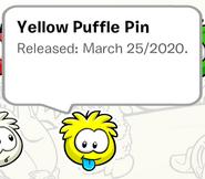 Yellow Puffle Pin SB