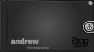 Andrew stampbook