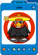Joee Player Card - Mid February 2019 - Club Penguin Rewritten
