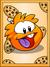 Orange Puffle Poster
