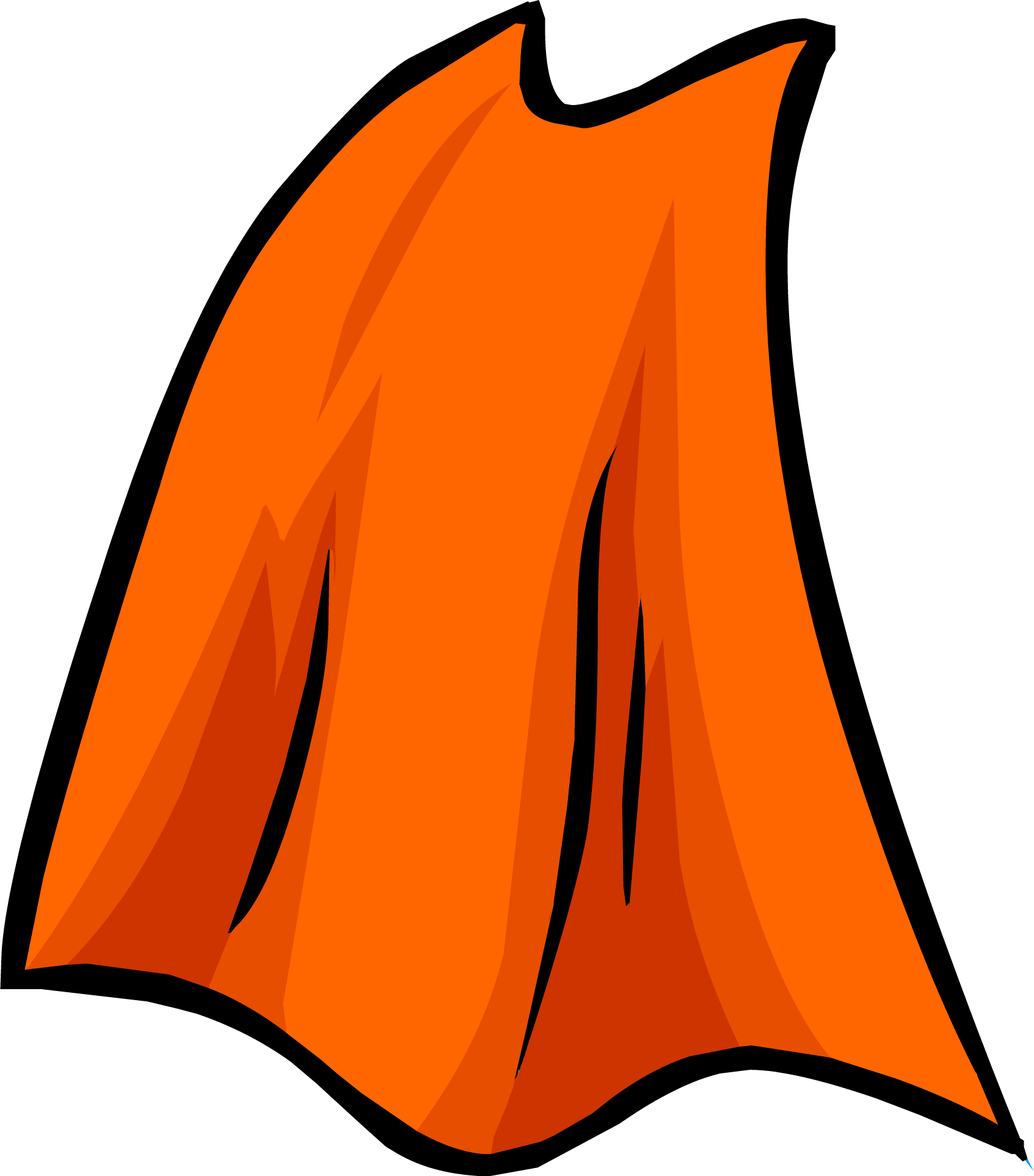 Orange Cape | Club Penguin Rewritten Wiki | Fandom
