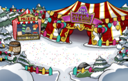 The Fair 2018 Temporary Great Puffle Circus Entrance