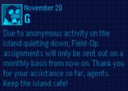EPF Message November 20 1