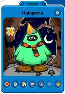 Halopona Player Card - Early October 2019 - Club Penguin Rewritten