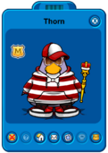 Thorn Player Card - Early June 2020 - Club Penguin Rewritten