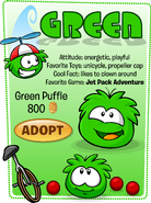 Green Puffle Adopt Catalog