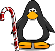 Candy Cane Cane from a Player Card