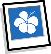 Blue Hawaiian Background Icon