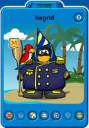 Hagrid Player Card - Late July 2018 - Club Penguin Rewritten