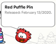 Red Puffle Pin SB