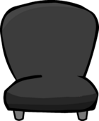 Black Plush Chair