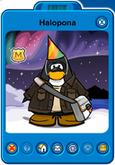 Halopona Player Card - Early November 2019 - Club Penguin Rewritten