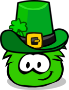 Green Puffle Patty's Hat Parade