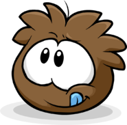 Brown Puffle Tongue