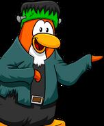 Happy Halloween Postcard Penguin