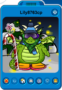Lily8763cp Player Card - Early January 2020 - Club Penguin Rewritten