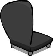 Black Plush Chair sprite 006