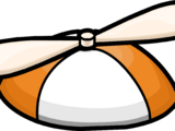 Orange Propeller Cap