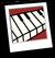 Piano Keys Background Icon