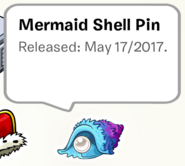 Mermaid Shell Pin SB