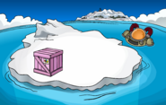 Puffle Party 2020 construction Iceberg