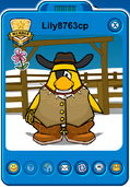 Lily8763cp Player Card - Early June 2019 - Club Penguin Rewritten