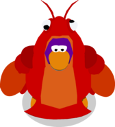 Toby the Lobster in-game