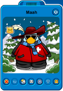 Maah Player Card - Mid January 2020 - Club Penguin Rewritten
