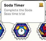 Soda timer stamp book